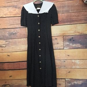 Vintage polka dot dress size 5/6